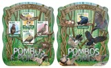 MOZAMBIQUE 2015 - Pigeons M/S + S/S. Official issue