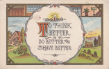 """""""To Think Better Is To Do Better And To Have Better"""", Country Scene, Lit Candle, 00-10s - Philosophy"""