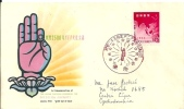 Letter FI000012 - Japan (Nippon / Nihon) Asian Cultural Congress Of Buddha Jayanti 1959-03 First Day Of Issue - Postzegels