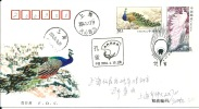 Letter FI000014 - China (Kina) Peafowl 2004-04-13 First Day Of Issue - Pauwen