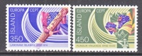 ICELAND  554-5   **    EUROPA - 1944-... Republic