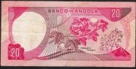 ANGOLA  P99a  20  ESCUDOS   1972   XF - Angola