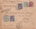 NOUVELLE CALEDONIE - NOUMEA - LETTRE RECOMMANDEE POUR LA FRANCE LE 14-3-1924 - BEL AFFRANCHISSEMENT A 75c - RARE. - Briefe U. Dokumente