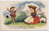 CARTE FANTAISIE    -  Illustrateur -  Heidi -  1952 - Illustrators & Photographers