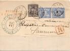 Lettre Du Tribunal De 1er Instance De Saumurretour A L Envoyeur  Pli Avec Bandelette Non Ouverte - 1876-1898 Sage (Type II)
