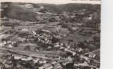 CPSM LE VAL D'AJOL (Vosges) - Vue Aérienne : La Gare Et La Section Des Champs Avec La Vallée Des Mousses - France