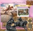 MALDIVES 2015 - Pony Express, Indians S/S Official Issue - Indiens D'Amérique