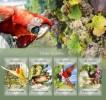 S. Tome&Principe. 2014 Grapes & Birds. (405a) - Pappagalli & Tropicali