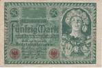 BILLETE DE ALEMANIA DE 50 MARK DEL AÑO 1920  (BANKNOTE) - [ 3] 1918-1933 : República De Weimar