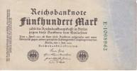 BILLETE DE ALEMANIA DE 500 MARK DEL AÑO 1922  (BANKNOTE) - 500 Mark
