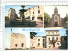 BELLEGARDE    -    Fontaine  Des  Lions  -  Eglise   -  Hôtel De VIlle  -  La  Tour - 4 Vues - Bellegarde