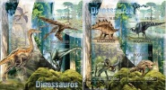 Mozambico 2013, Dinosaurus, 4val in BF+BF