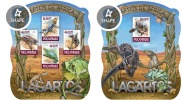 Mozambico 2015, Lizards, 4val in BF +BF