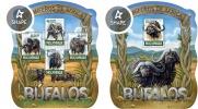 Mozambico 2015, Animals, Buffalos, 4val in BF +BF