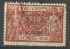 Azores - 1921 Parcel Post Overprint 10c Used    Sc Q4 - Azores