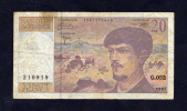 France -  BILLET - 20 Francs Debussy 1997 - G.052 - 210919 - 1962-1997 ''Francs''