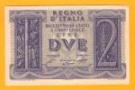2 Lire Banca D´ Italia Impero Del 14-11-1939 -  FDS - [ 1] …-1946 : Koninkrijk