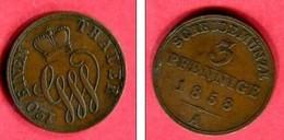 SCHAMBURG LIPP  3  PFENNING 1858   ( C 39 )  TB  6 - Small Coins & Other Subdivisions