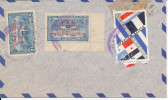 Nicaragua air mail cover sent to USA 12-11-1964 ?? overprinted stamps (all stamps on the backside of the cover)