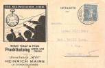 """UHRENFABRIK """"MYR"""" - Heinrich Maire: Zu+Mi 138 III Mit O CHAUX-DE-FONDS 6.VII.18 FELDPOST (Zu CHF 17.00) - Horlogerie"""