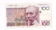 *BELGIQUE*BILLET DE 100 FRANCS*BAUDOUIN*1982-1994 *TYPE BEYAERT*SIGN.AU RECTO*  LOT 24 - [ 2] 1831-... : Reino De Bélgica