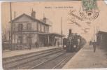 Cpa 1907 Houilles. Les Quais De La Gare. Gare Et Train Vapeur N°104. Vue Animée. Edit.A.POLET - Houilles