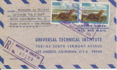 Venezuela registered air mail cover sent to USA 8-11-1964