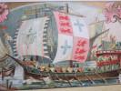 Ancien Bateau Navire Galère à Rames  CHICOREE EXTRA A LA BELLE JARDINIERE CHROMO & IMAGE=>C. BLERIOT à LILLE NORD - Thee & Koffie