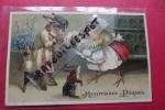 Cp  Heureuses Paques Lapins + Poussins+ Bebe Decoupi - Ostern