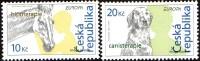 CEPT / Europa 2006 Tchèque N° 433 Et 434 ** L'intégration - Cheval -, Chien - 2006