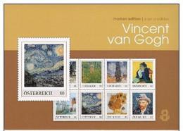 Map Kunst Vincent Van Gogh Met 8 Excl.zegels - Autriche