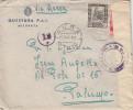 LIBIA - MISURATA - R. QUESTURA P.A.I.  _ 15.10.1942  /  ITALIA _ Cover _ Lettera - Cent. 50 X 2 _ Scritto All´interno - 1900-44 Vittorio Emanuele III