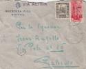 LIBIA - MISURATA - R. QUESTURA P.A.I.  _ 22.10.1942  /  ITALIA _ Cover _ Lettera - Cent. 50 X 2 - 1900-44 Vittorio Emanuele III