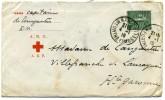 Enveloppe  Croix  Rouge  ARC  - AEF  De Nancy   Pour  Villefranche  De Lauragais En  1919 - Primeros Auxilios