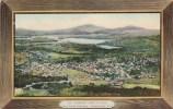 New York Adirondacks Saranac Lake Village From Baker Mountain