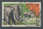 Gabon, Elephant, 1967, VFU - Gabon