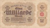 Eine Milliarde Mark - 1 000 000 000 Mark Stadt Köln 1923 - [11] Emissions Locales