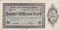 Hundert Millionen Mark 100 000 000 Mk - Aachen Serie A 1923 - [11] Emissions Locales