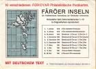 Føroyar/Färöer - 10 Verschillende Postkaarten Met De Posthistorische Ontwikkeling Van De Postzegels Van Føroyar - Faeroër