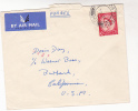 1954 BRITISH FORCES To DORIS DAY Warner Bros Pmk  FPO 352 GERMANY  To USA GB Stamps Movie Cinema Film - Cinema