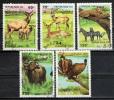CONGO BRAZZAVILLE - 1993 - ANIMALI SELVATICI - WILD ANIMALS - USATI - Congo - Brazzaville