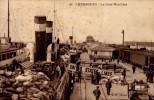 50-CHERBOURG..LA GARE MARITIME..CPA ANIMEE - Cherbourg