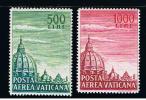 1958 - VATICAN - VATICANO - VATIKAN - D3 - MNH SET 0F 2 STAMPS  ** - Unused Stamps