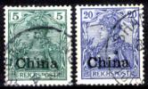 Cina-(Uff.Ted.)-0016 - 1900 - Y&T: N. 10+12 (o) - Privi Di Difetti Occulti. - Ufficio: Cina