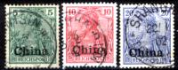 Cina-(Uff.Ted.)-0017 - 1900 - Y&T: N. 10+11+12 (o) - Privi Di Difetti Occulti. - Ufficio: Cina