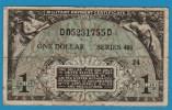 USA 1 DOLLAR  ND (1951-1954) P# M26  MILITARY PAYMENT CERTIFICAT Serie# 481 - Military Payment Certificates (1946-1973)