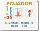 Ecuador 1980, Postfris MNH, Olympic Games - Ecuador