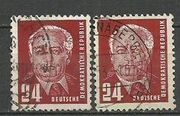 DDR  1952, Nr. 324a XI+XII, Gestempelt - [6] Democratic Republic