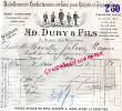 75- PARIS - FACTURE AD. DURY ET FILS- FACTURE HABILLEMENTS ENFANTS- 3 PLACE DES VICTOIRES- 1913 - France