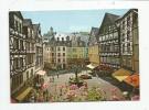 Cp , ALLEMAGNE , COCHEM / MOSEL , Marktplatz Mit St. Martinsbrunnen Und Burg Cochen , Voyagée 1987 - Cochem